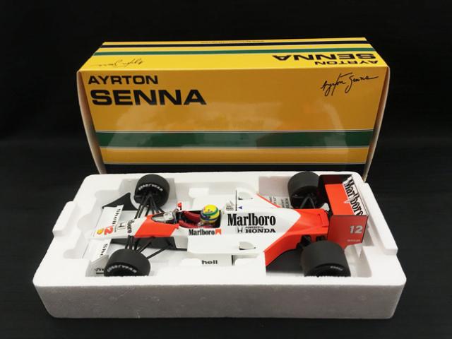 ミニチャンプス 1/18 マクラーレン ホンダ MP4/4 A.セナ 1988ワールドチャンピオン 当店オリジナルタバコロゴモデル