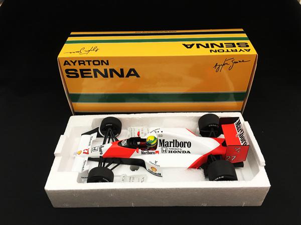 ミニチャンプス 1/18 マクラーレン ホンダ MP4/5B A.セナ 1990 ワールドチャンピオン セナコレクション 当店オリジナル タバコロゴモデル