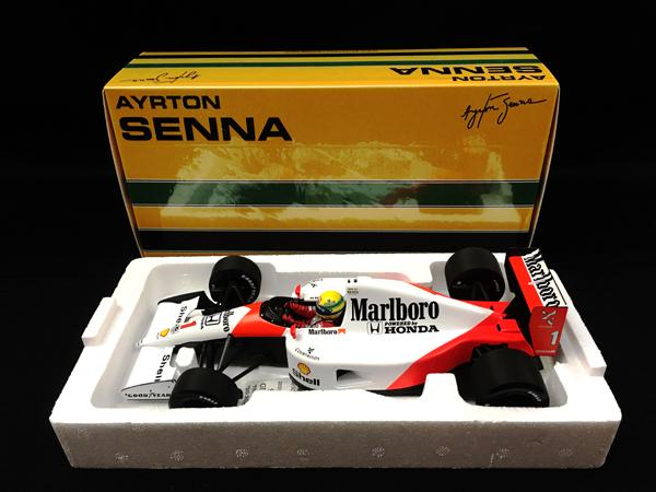 ミニチャンプス 1/18 マクラーレン ホンダ MP4/6 A.セナ ワールドチャンピオン 1991 当店オリジナルタバコロゴモデル