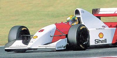 ミニチャンプス 1/43 マクラーレン フォード MP4/8 A.セナ1993年日本GP優勝
