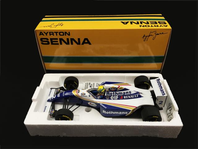 ミニチャンプス 1/18 ウィリアムズ ルノー FW16 A.セナ 当店オリジナルタバコロゴモデル 1994