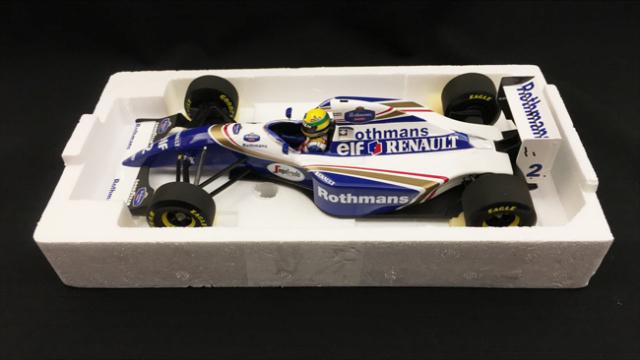 【再入荷】ミニチャンプス 1/18 ウィリアムズ・ルノー FW16 A.セナ 1994年サンマリノGP 当店オリジナルタバコロゴモデル
