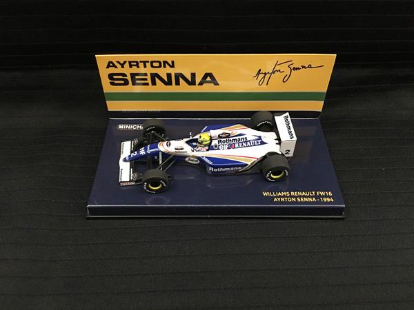 ミニチャンプス 1/43 ウィリアムズ ルノー FW16 A .セナ 1994 当店オリジナルタバコロゴモデル