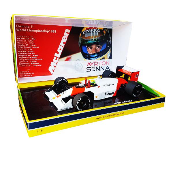 セナ1988MP4/4コレクション ミニチャンプス 1/18 マクラーレンMP4/4 A.セナ 1988年日本GP(タバコデカール付)