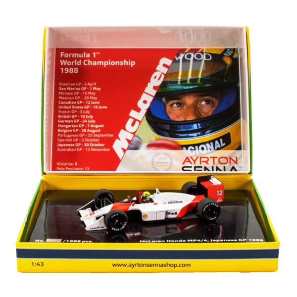 【再入荷】セナ1988MP4/4コレクションミニチャンプス1/43 マクラーレンMP4/4 A.セナ1988年日本GP(タバコデカール付)