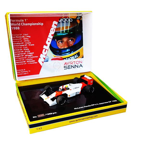 セナ1988MP4/4コレクション ミニチャンプス 1/43 マクラーレンMP4/4 A.セナ 1988年日本GP(タバコデカール付)