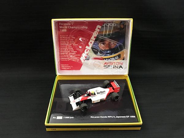 セナストア別注 ミニチャンプス 1/43 マクラーレン ホンダ MP4/4 1988年日本GP限定BOX仕様 当店オリジナルタバコロゴモデル