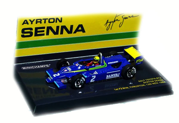 ミニチャンプス 1/43 ラルトトヨタRT3 F3 A.セナ 1ST F3 スラクストン 11月13日 1982優勝 セナ・コレクション