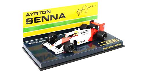 ミニチャンプス 1/43 マクラーレン ホンダ MP4/4 A.セナ 1988年イギリスGP優勝