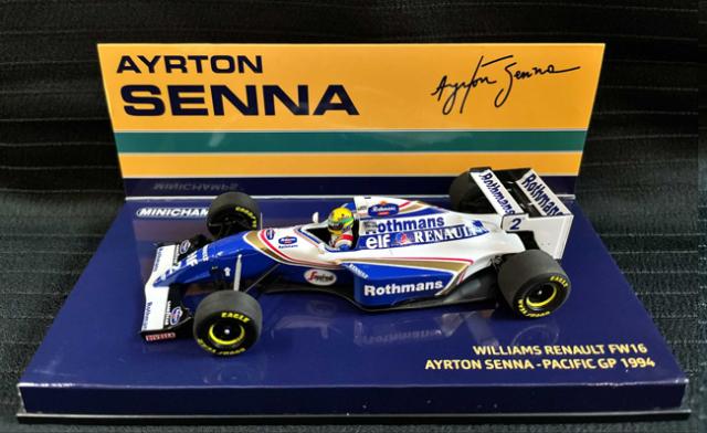 ミニチャンプス 1/43 ウィリアムズ FW16 A.セナ 1994年パシフィックGP 当店オリジナルタバコロゴモデル