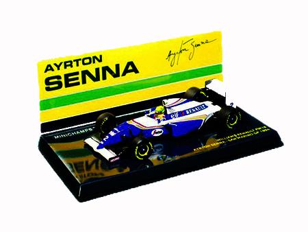 ミニチャンプス 1/43 ウィリアムズ ルノー FW16 A.セナ 1994年サンマリノGP