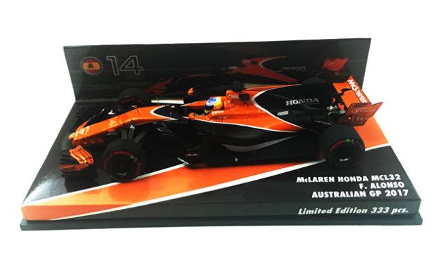 【並行輸入品】海外別注 ミニチャンプス 1/43 マクラーレン MCL32 F.アロンソ 2017年オーストラリアGP 限定