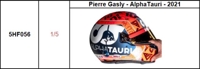 【スパーク(5HF056)2021年9月発売予定ご予約商品5/20締切】 1/5ヘルメット P.ガスリー - アルファタウリ - 2021 予価:税込¥3960