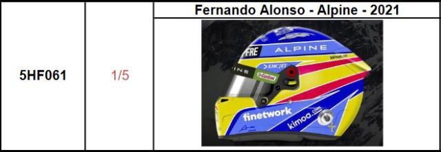 【スパーク(5HF061)2021年9月発売予定ご予約商品5/20締切】 1/5ヘルメット F.アロンソ - アルピーヌ - 2021 予価:税込¥3960