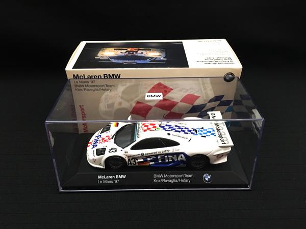 BMW別注BOX ミニチャンプス 1/43 マクラーレン BMW 1997ルマン24 FINA NO.43
