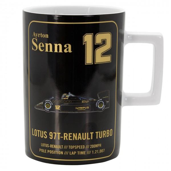 セナコレクション ロータス97T A.セナ マグカップ 1985年初優勝