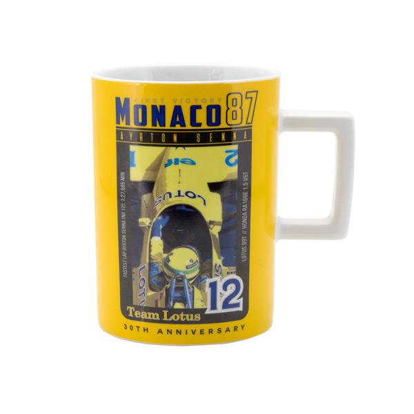 セナモナココレクション A.セナ マグカップ 1987年モナコ初優勝
