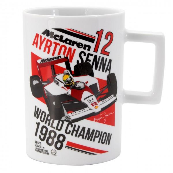 セナコレクション マクラーレン MP4/4 A.セナ マグカップ 1988ワールドチャンピオン