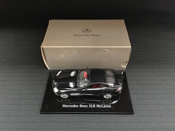 ミニチャンプス 1/43 メルセデス ベンツ SLR マクラーレン ブラック メルセデス別注BOX