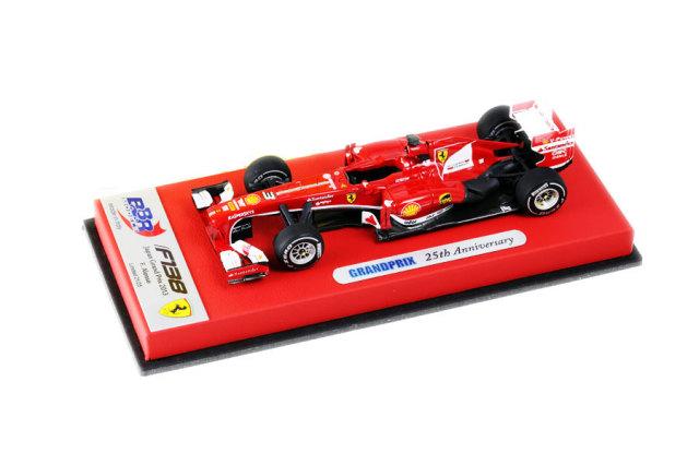F1ショップグランプリ別注 BBR 1/43 フェラーリ F138 F.アロンソ 2013年日本GP GRANDPRIX25周年記念モデル 25台限定レザー台紙