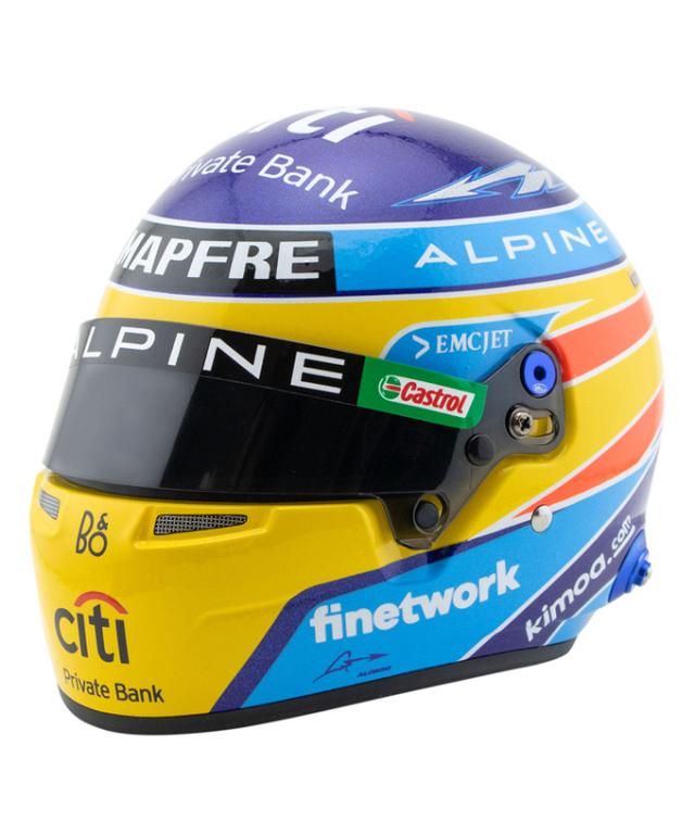 F.アロンソ 2021年アルピーヌF1 1/2ヘルメット【国内正規入荷商品】