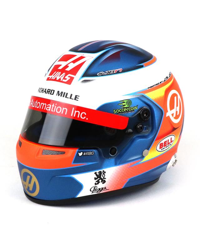 R.グロージャン ハース F1 2019 1/2ヘルメット