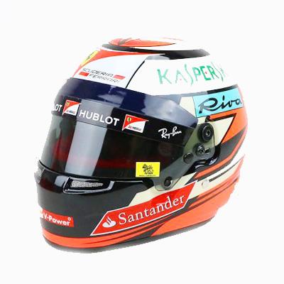 フェラーリ 2017 K.ライコネン 1/2 ヘルメット