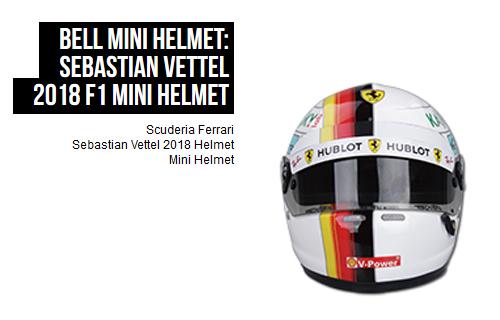 フェラーリ 2018 S.ベッテル 1/2 ヘルメット