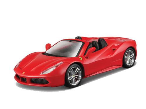 ブラーゴ 1/43 フェラーリ 488 スパイダー(レッド)シグネチャーシリーズ