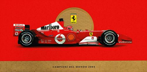 フェラーリ 2004 グリーティングカード(封筒付)