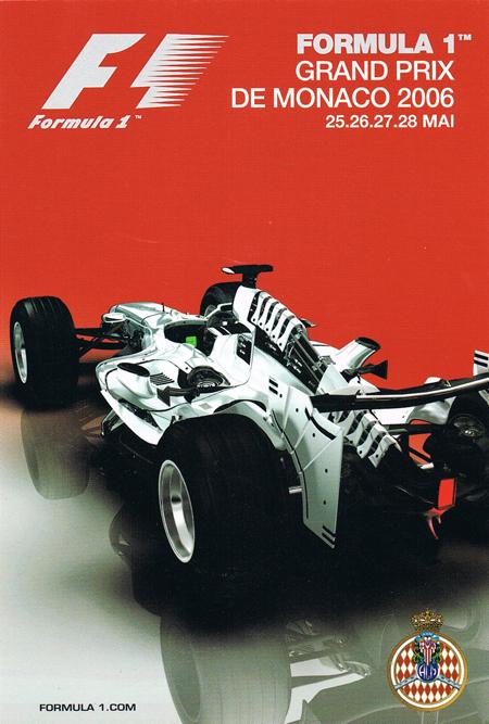 2006年 F1モナコGP 公式ポストカード