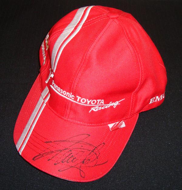 TOYOTA(トヨタ) F1 TEAM T.グロック 直筆サイン入 チームキャップ(市販品)