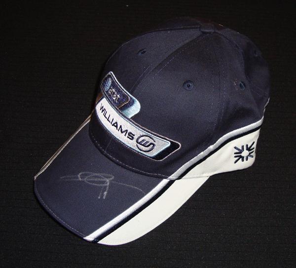 【オートグラフフェアー対象】【SALE】【SALE】2009年 ウィリアムズ 中嶋一貴 直筆サイン入 本人用 支給品キャップ