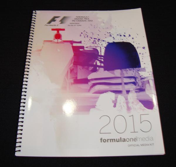 F1 2015年カナダGP メディアノート(サーキットガイド)のみ