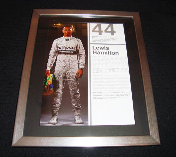 メルセデス L.ハミルトン 直筆サイン入  2014年F1中国GPプログラム ドライバーズページ(額装品)