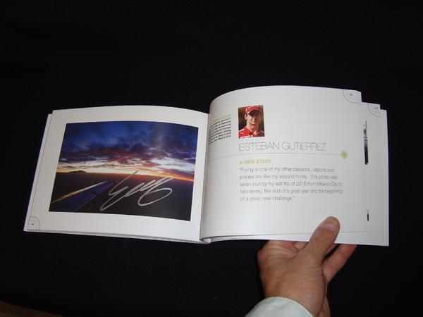 E.グティエレス直筆サイン入り 2016 ZOOM F1ドライバー写真集