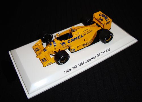 レーヴコレクション 1/43 ロータス HONDA ホンダ 99T セナ 1987年日本GP2位 No.12  当店オリジナルタバコロゴモデル