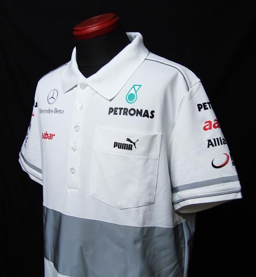 2012年 メルセデスGP チーム支給品 ポロシャツ セットアップ USED PUMA製 サイズM(大きめ)