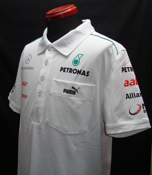 【SALE】2012 メルセデスGP チーム支給品 ポロシャツ 新品  PUMA製 サイズM(大きめ)