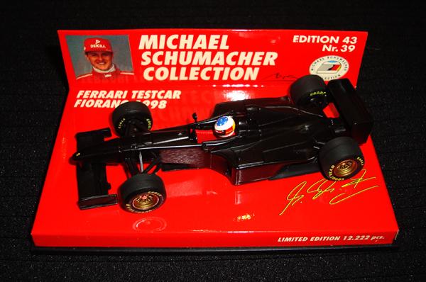 ミニチャンプス 1/43 フェラーリ フィオラノテストカー 1998 M.シューマッハ シューマッハコレクションNr.39
