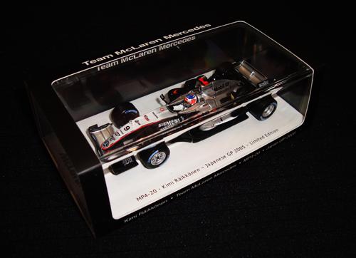 スパーク 1/43 マクラーレン・GTC別注 マクラーレンMP4-20 K.ライコネン 2005年日本GP限定