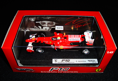 マテル 1/43 フェラーリ F10 F.マッサ 2010年バーレーンGP