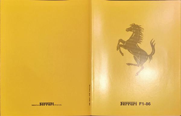 1986年 FERRARI(フェラーリ) F1/86 F1マシンスペックカタログ