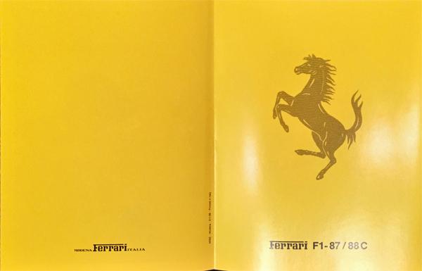1988年 FERRARI(フェラーリ) F1-87/88C F1マシンスペックカタログ