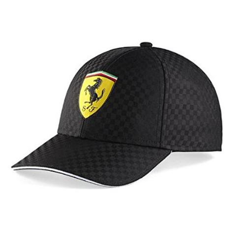 フェラーリ レーシング チェック キャップ ブラック