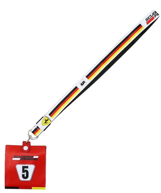 フェラーリ SF チーム S.ベッテル NO.5 ランヤード(チケットホルダー付)TYPEB