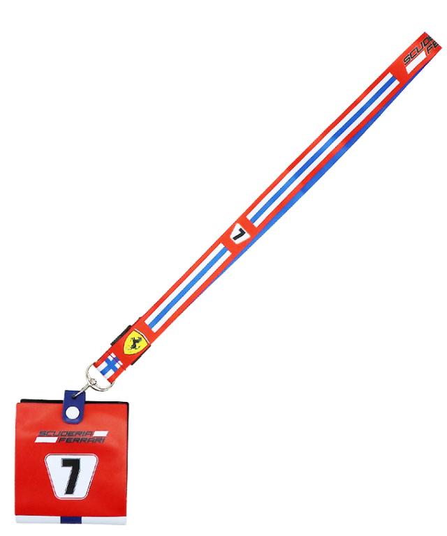 フェラーリ SF チーム K.ライコネン NO.7 ランヤード(チケットホルダー付)