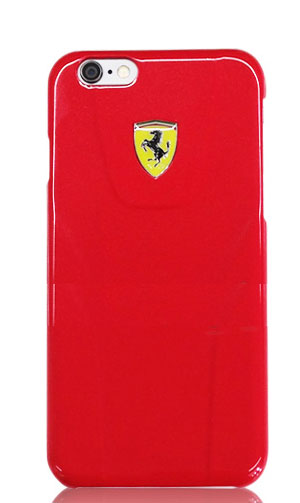 "フェラーリiPhone6/6S(4.7inch)カバー  ""Ferrari Fiorano Metalic 3D Hard Case  Red """