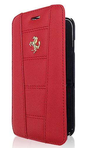 """フェラーリiPhone6/6SPlus(5.5inch)カバー """"Ferrari 458 Leather Booktype Case Red  """""""