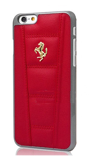 "フェラーリiPhone6/6SPlus(5.5inch)カバー ""Ferrari 458 Leather Hard Case Red  """